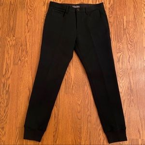 NEW Vince Black Thick Knit Button Joggers Size 31